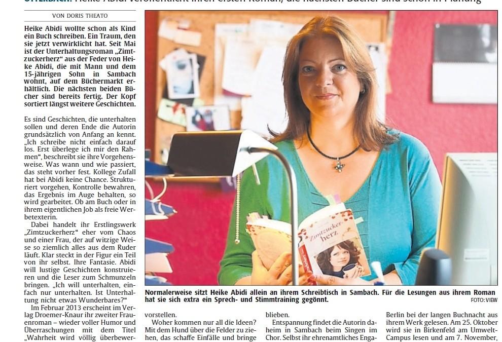 Zeitungsporträt über mich in der Rheinpfalz