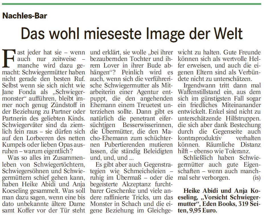 Badisches Tagblatt Rezension 18.4.15