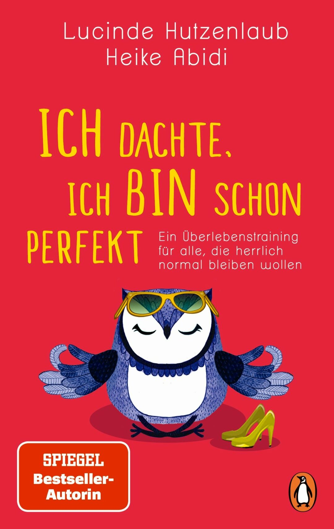 Buchcover rot mit Eule